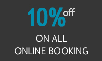 Save 10% on all online bookings
