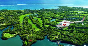 Inter-Hotel Helicopter Transfer in Mauritius