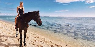 Horse Riding On Belle Mare Beach