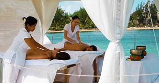 Relaxing Couple Massage on a Private Floating Dock