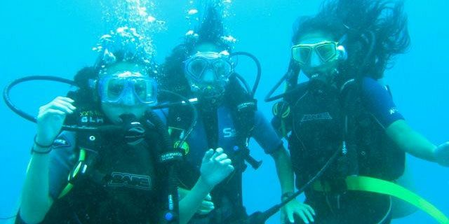 PADI Discovery Initiation diving in mauritius (15)