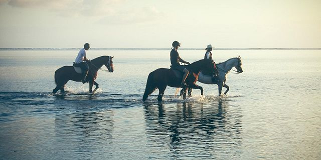 romantic sunset horse riding on the riambel beach (4)